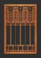 Laser Cut Wood Elements: Triple Tree of Life