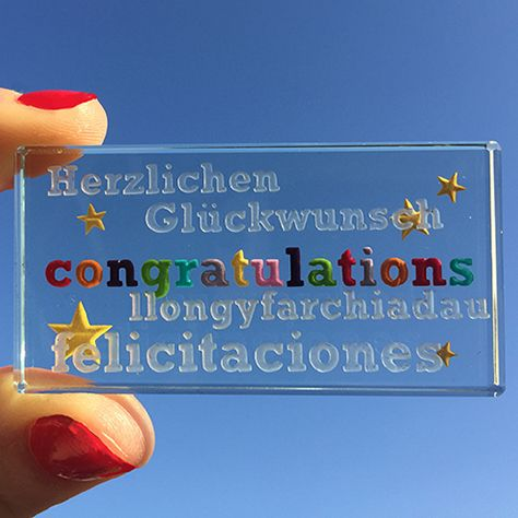Say well done in English, German, Welsh and Spanish! A very cute and quirky gift for anyone graduating, particularly if they studied a language or too! #Love #Gift #Congratulations #Token #Graduation #Spaceform #London