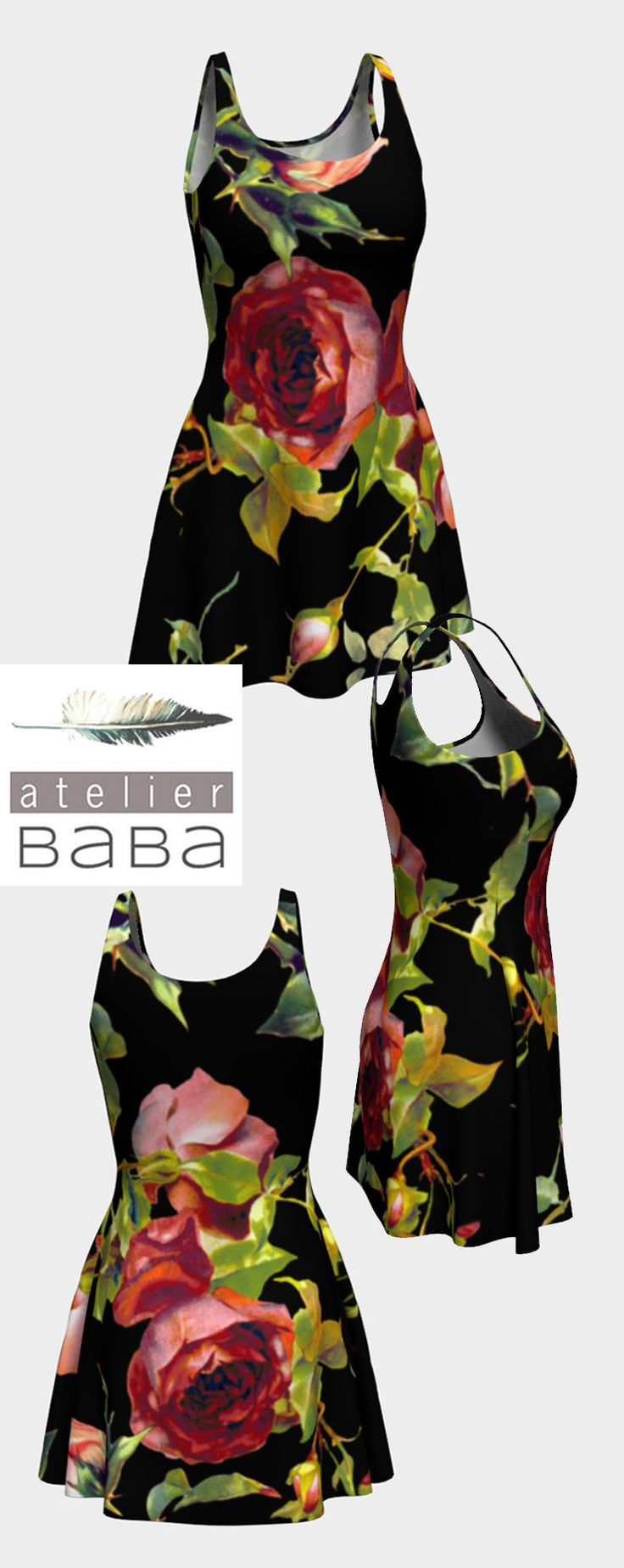 Evening Rose Flare Dress by atelierbaba on Art of Where. Lovely