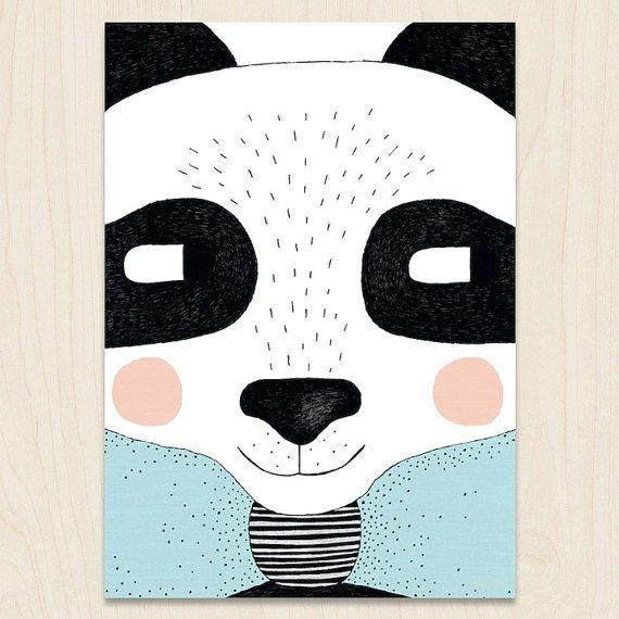 Big Panda A3 Print by seventytree on Etsy, £25.00
