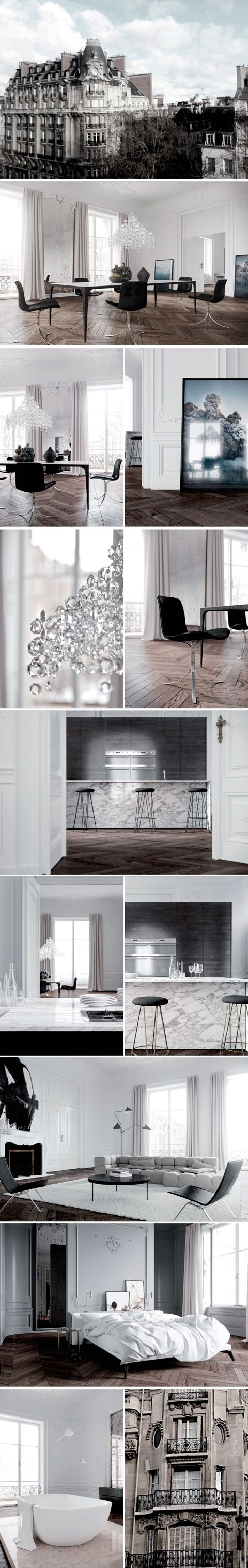 PARIS APARTMENT interior design by Jessica Vedel. This is the floor i want!