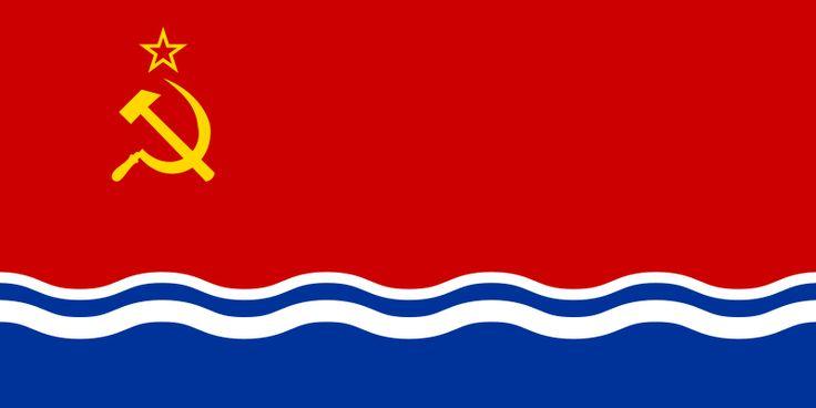 Flag Of Latvian Ssr Soviet Socialist Republic Soviet Union Flag