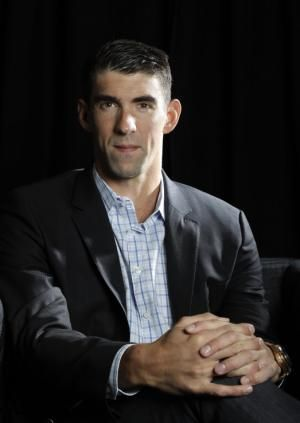 In this Tuesday, Oct. 25, 2016, photo, former Olympic swimmer Michael Phelps poses for a portrait while attending the Quickbooks Connect conference as a featured speaker in San Jose, Calif. Phelps is looking for his next golden opportunity in business after retiring from his sport as the most decorated athlete in Olympic history. He thinks he might find it in Silicon Valley, joining a growing list of athletes and entertainers trying to build upon their fortunes in a technology-driven area…