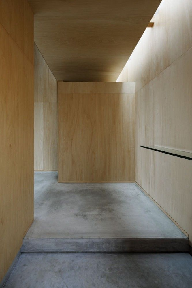 Interior of  house  Na by Studio Architect Shuji Hisada. Beautiful subtle colors.