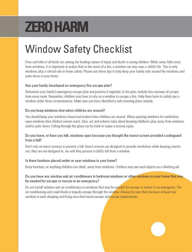 Best Window Safety Images On   Safety Tips Safety