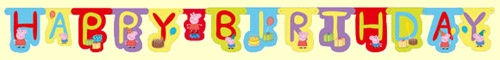 Peppa Pig Birthday Party Banner