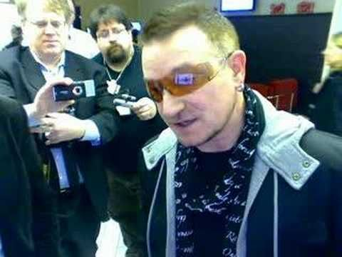 Bono Charity Work There are few people in the music industry who have the presence of Bono. The Irish frontman of U2 knows no limitations when it comes to fighting poverty and hunger, and is constantly in direct contact with world leaders and policy makers in his quest to make the world a better place.