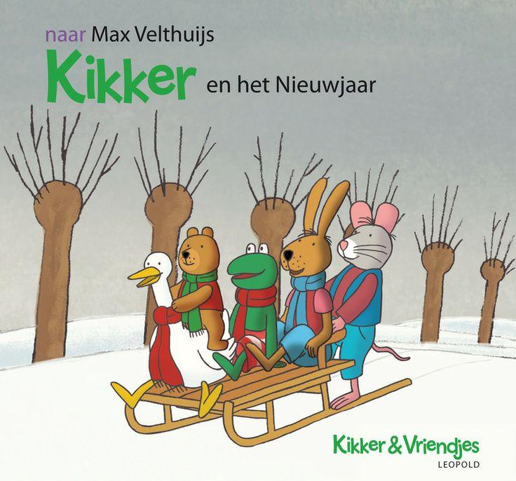 Kikker en zijn vriendjes gaan naar Varkentje voor het nieuwjaarsdiner. Zij maakt altijd lekkere hapjes en hangt lichtjes in de bomen. Ze komen aan op de slee, maar zien alleen een omgevallen ladder en de meeste lichtjes zitten nog in de mand. Waar is Varkentje?