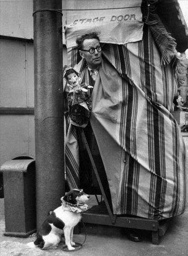 Punch and Judy: Liverpool - unpub (Photo by Bert Hardy/Picture Post/Getty Images) 1955