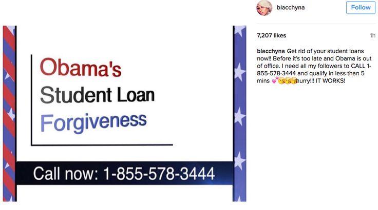 Blac Chyna Is Promoting A Shady Student Loan Ripoff On Instagram - BuzzFeed News