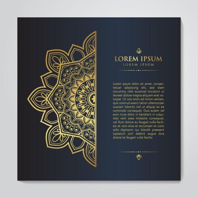 Luxury Black Gold Mandala Design Luxury Black Gold Png And