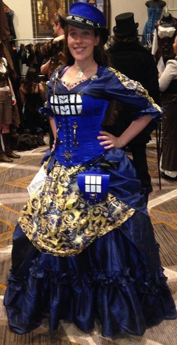 dress tardis cosplay victorian                                                                                                                                                                                 More