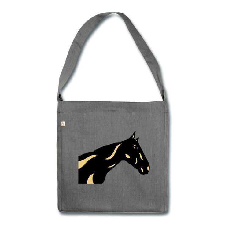 Schultertasche | Abstraktes Pferd Crimson 2F von Manuel Süess | Mehr: https://shop.spreadshirt.de/PferdeDesigns/schultertasche+abstraktes+pferd+crimson+2f-A109675236