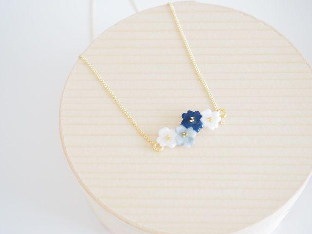minne(ミンネ)| quatro flores ネックレス