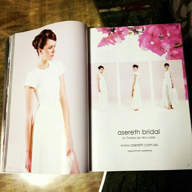 Wedding upstyle by Canary Hair and Beauty printed in the autum publication of queensland brides.