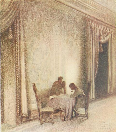 A Conference in the Chateau de Febvin-Palfart