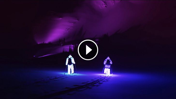 I think this is something for the next SSX game for Søren Dan and the legendary Rebekka Two Guys went Skiing in the Pitch Dark Wearing LED Suits. What Followed Is Epic!