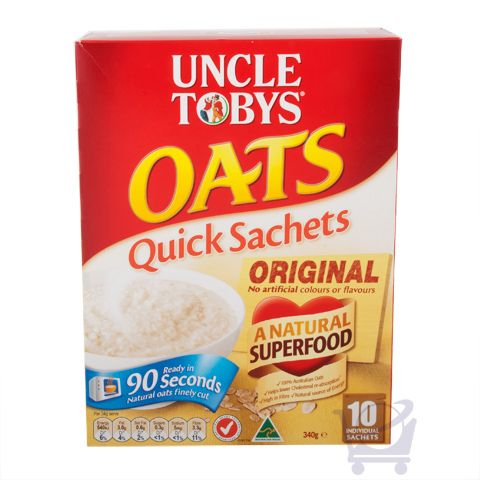 Uncle Tobys Oats Quick Sachets Original – Uncle Tobys, 340g | Shop Australia