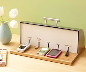 What a great idea -- breadbox charging station!