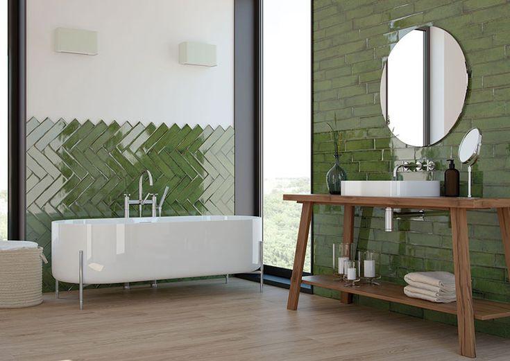 Vintage Olive Ceramic Tiles