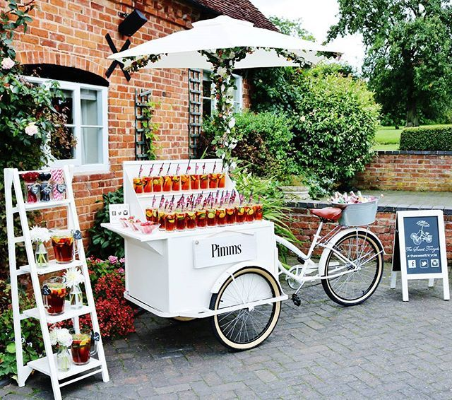 """Pimms O'Clock 🍹  #pimms #gettinghitched #gettingmarried #instawedding #weddingseason #weddinginspo #weddinginspiration #weddingwednesday #bridetobe #weddingplanner #weddingplanning #love #tricycle #instaparty #partyplanning #weddingideas #engaged #engagementparty #groomtobe #alcohol #pimmsoclock #drinks #weddingday #eventplanner #cocktails #mobilebar #southwest #bath #bristol #vintage"" by @thesweettricycle. #свадьба #невеста #prewedding #casamento #marriage #noiva #bridalstyle…"