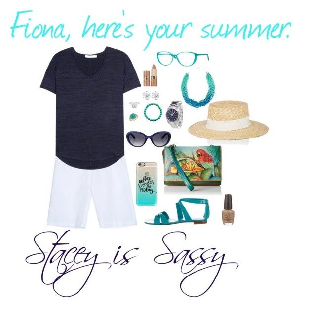 """""""Fiona asks for summer...I'll give her summer."""" by staceyissassy on Polyvore featuring 120% Lino, rag & bone, Gianvito Rossi, Italia Independent, Casetify, Anuschka, OMEGA, Blue Nile, Emilio Pucci and OPI"""