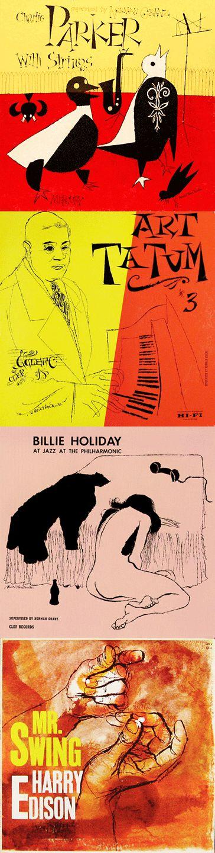 David Stone Martin Jazz album covers