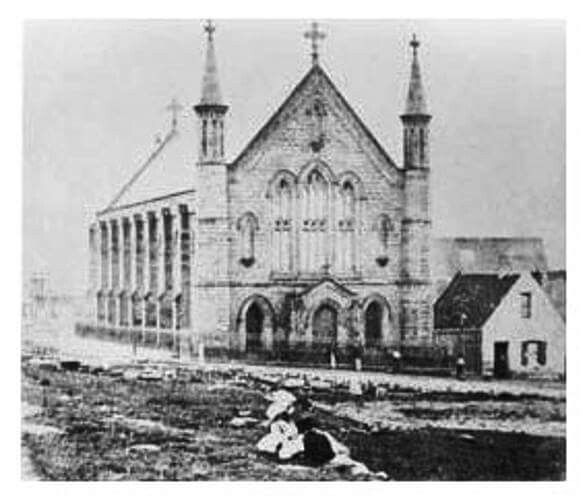 Earliest known photo of St Patrick's Catholic Church on Grosvenor St,The Rocks,Sydney in 1868.A♥W