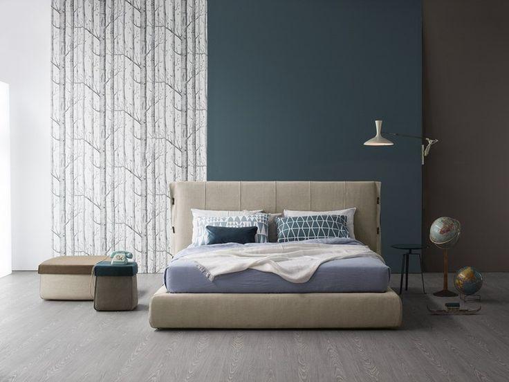 Upholstered fabric storage bed CUFF   Storage bed - Bonaldo