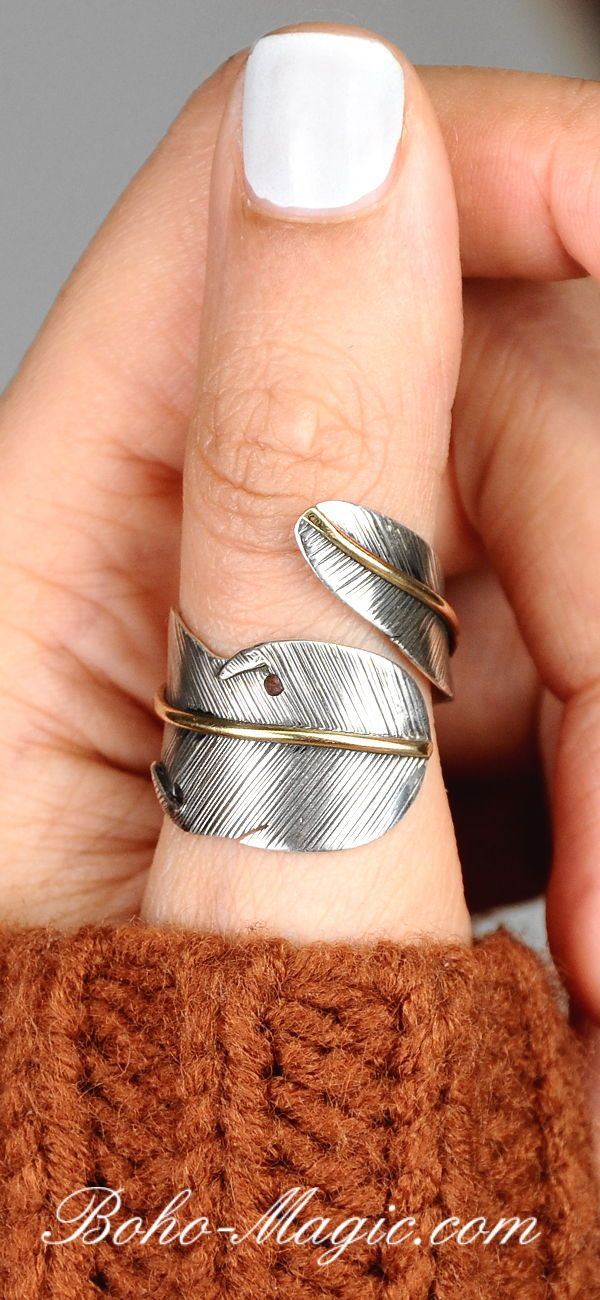 HANDMADE SOLID STERLING SILVER  BANGLE WITH SEVEN LUCKY RINGS 925 BOHO