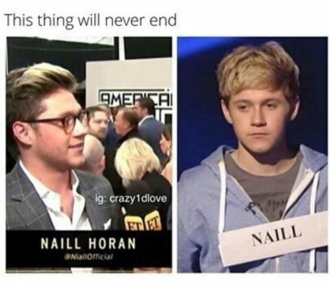 The funny thing is that they had his Twitter handle but they still spelled his name wrong. Poor Niall*