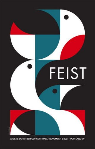 FEIST concert poster by Dan Stiles