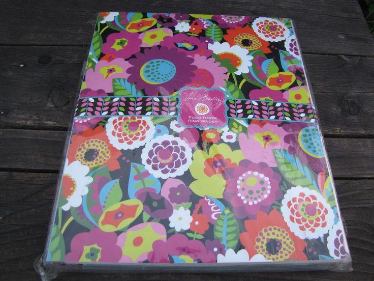 Vera Bradley Rare Retired Va Va Bloom Flexi Three 3 Ring Binder Folder Notebook #VeraBradley #3RingFlexiBinder