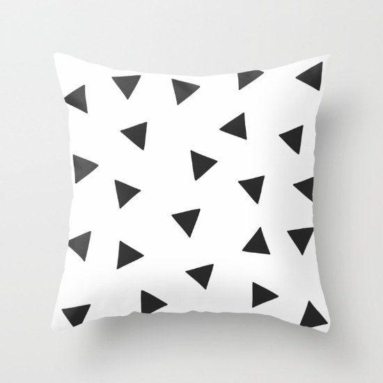 16x16 18x18 20x20 24x24 Decorative Pillow Cover: Black by HAStudio