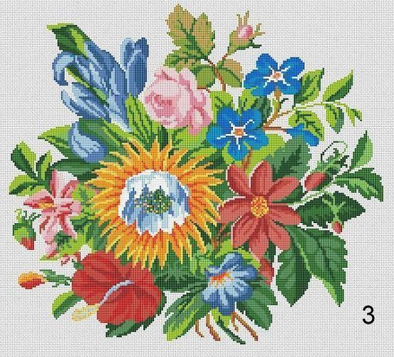 Berlin Woolwork Bouquet 1 2 3 Multifloral by MyTreasureIsland