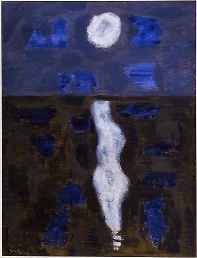 Milton Avery White Moon, 1957