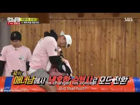 Running Man Ep.301 - Kim Jong Kook hugs Song Ji Hyo to calm her down