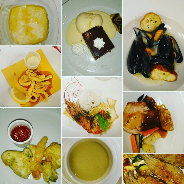 Some of the amazing food we had while aboard the msc sinfonia