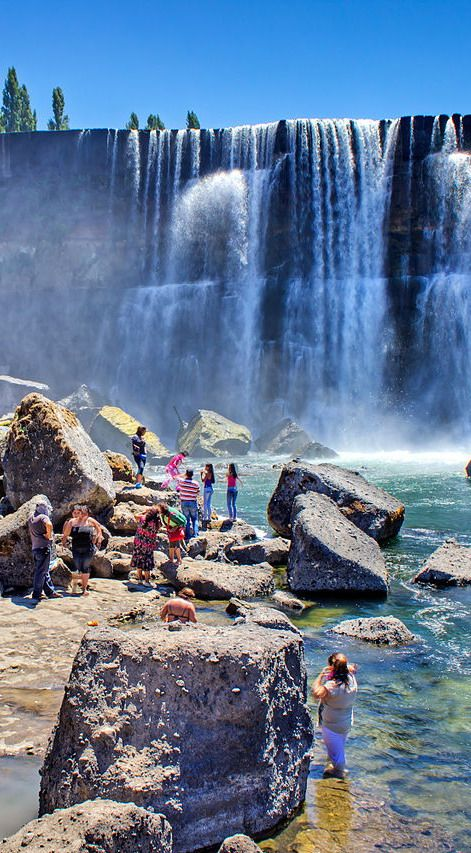 #Laja_Waterfalls, #Chile http://en.directrooms.com/hotels/country/8-92/