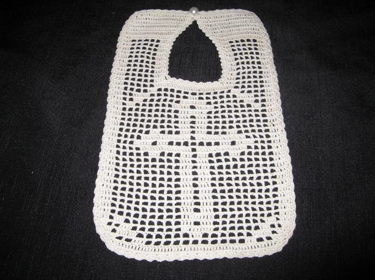 Filet Crochet Baby Bib Patterns : 17 Best images about Crochet Baby Christening on Pinterest ...