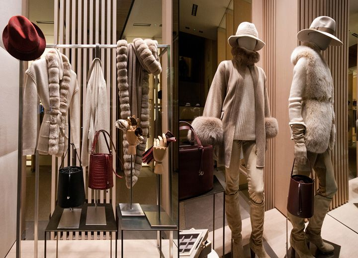 Loro Piana Fashion Week windows 2014, Milan   Italy window display
