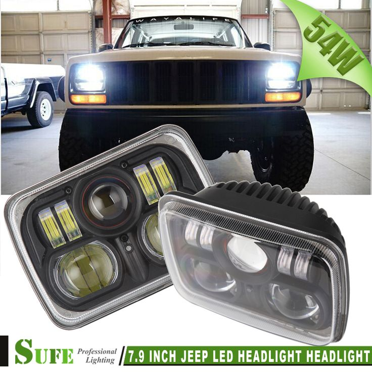 2PCS 7.9 INCH 54W CREE LED HEADLIGHT FOR Truck Offroad WITH H4 HI/LO BEAM REPLACEMENT KIT FOR JEEP Wrangler JK Cherokee XJ