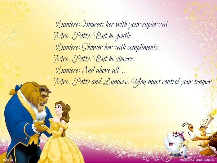 flirting quotes about beauty and the beast song list movie