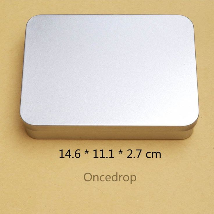 14cm Rectangular Tin Box Diy Blank Metal Boxes Keep Photo/Gift/Jewelry, Cable/Money/Coin/Parts