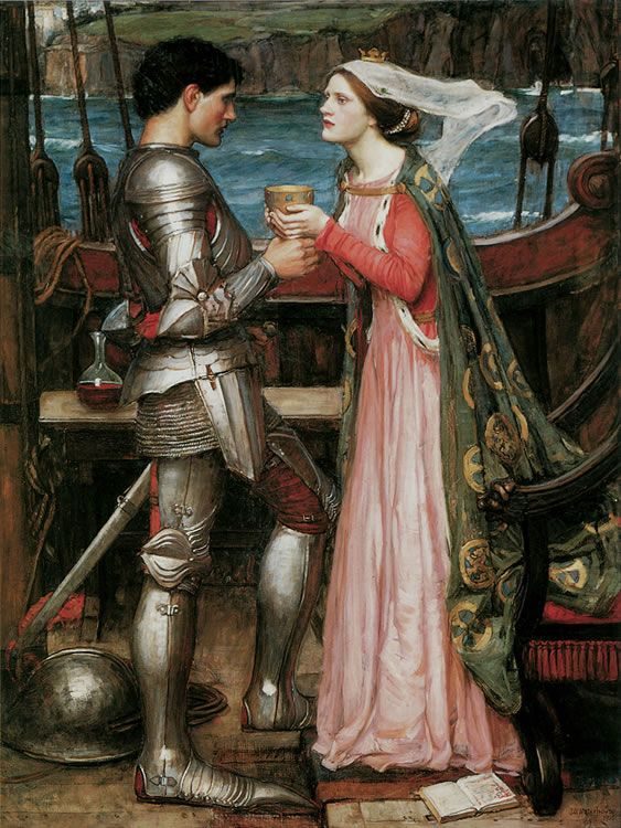 John William Waterhouse -- Tristram and Isolde. 1916. From: 120 Great Victorian Fantasy Paintings