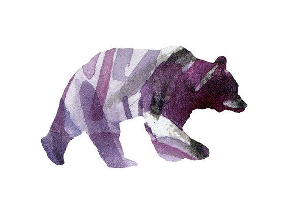 Bear Watercolor illustration. Fine Art Print door Lemonillustrations, €15.50