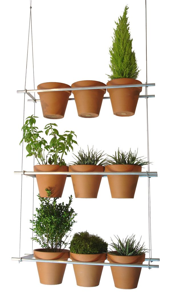 Vertical window garden; this would be fun to have full of herbs