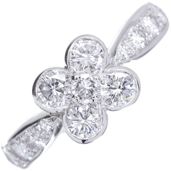 ヴァンクリーフ&アーペル リング オンベル ダイヤモンド K18WGホワイトゴールド リングサイズ約8.5号 Van Cleef&Arpels 指輪 ジュエリー ダイアモンド【安心保証】【中古】【楽天市場】