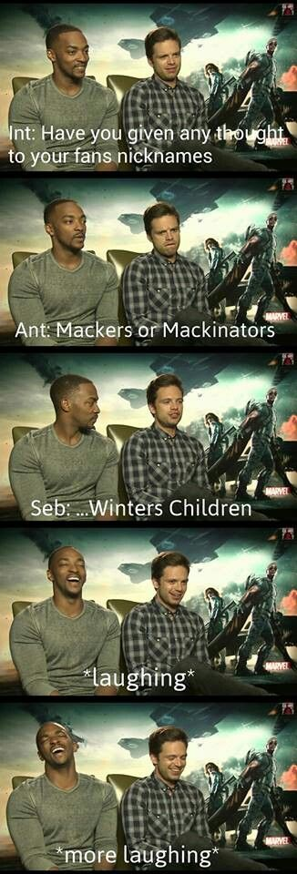 """We are Winters children """"And at this very moment, Seb had NO idea what he had just done. He had named his fandom."""""""