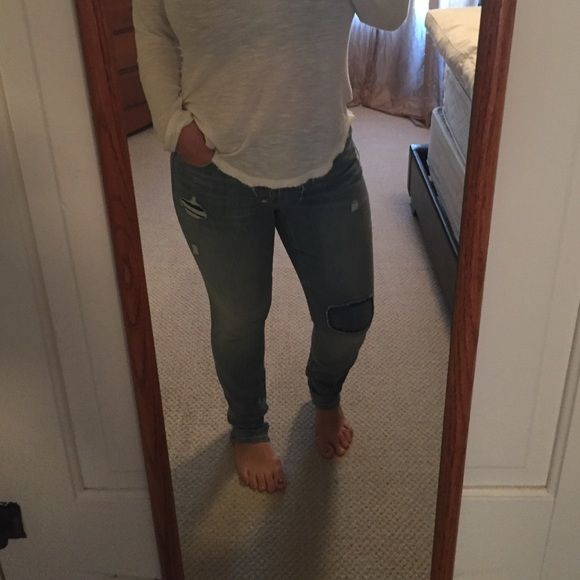 The loft curvy jeans Excellent condition!!!! Willing to trade for size 8 curvy jeans LOFT Jeans Straight Leg